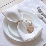 Vermietung Verleih von Stoffservietten in weiß
