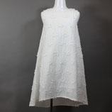 LJB-040 刺繍ノースリーブワンピース [ホワイト/ブルー]