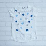 LJB-061 ハートプリント&スパンコール付Tシャツ (Alina)