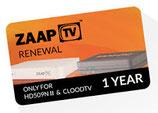 1 an renouvellement d'abonnement de ZaapTV
