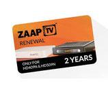 2 ans renouvellement d'abonnement  ZaapTV