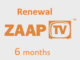 6 Monate ZaapTV ™  Arabische Paket Verlängerungskarte
