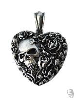 Herz mit Skull und Rose