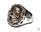Skull mit roten Augen 2