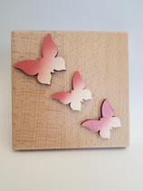 Frühlingsbrett drei Schmetterlinge
