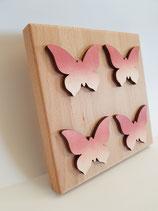 Frühlingsbrett vier Schmetterlinge