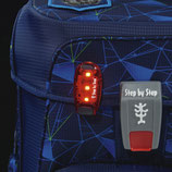 LED Sicherheitsklemmleuchte mit 3 Blink-Modi, rot