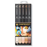 Chameleon 5-Pen Skin Tones Set (CT0510)