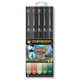 Chameleon 5-Pen Nature Tones Set (CT0514)