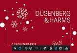 Düsenberg & Harms - Geschenkkarte mit Weihnachts-Hülle