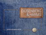 Düsenberg & Harms - Geschenkkarte mit Jeans Hülle