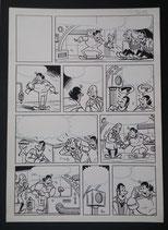 Vandersteen, studio - Jerom, originele pagina (pagina 18) uit Gevaarlijke nachten