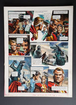 "Frey, Oliver - Trigië, originele pagina (pagina 16 ""Duel met Cato"")"