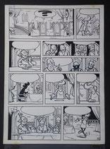 Vandersteen, studio - Jerom, originele pagina (pagina 4) uit De Kroonjuwelen incl. genummerd album