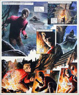"Frey, Oliver - Trigië, originele pagina (pagina 13 ""De proeven van Janno"")"
