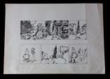 Vleeschouwer, Willem – Jacob Maneschijn en Sientje Zeester, originele stroken (pagina's  96 en 97)