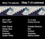 Olas 7 con 4 colores
