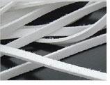 Flechtband weiss 4mm / 1 Meter Stücke