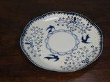 銀彩鳥小花 花型皿
