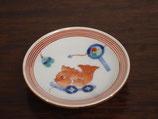 鯛と押し車 豆皿
