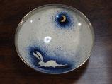月とうさぎ渕銀 13cm小鉢