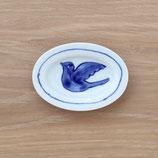 楕円皿鳥(小)DSB001