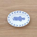 楕円皿魚(小)DSF001