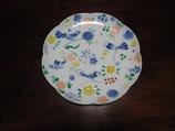 鳥小花紋 17cm花型皿