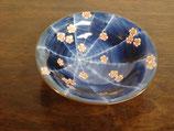 蜘蛛の巣梅紋 15.5cm反り小鉢