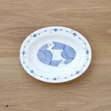 鳥楕円皿(大)002