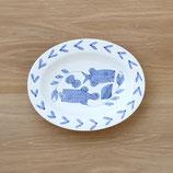 魚楕円皿(大) 001