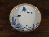 富士と鶴亀 18.5cm鉢