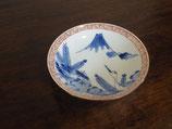 富士と鶴亀 13cm豆皿