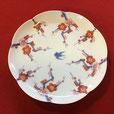 八方梅木立燕紋 17cm花型皿
