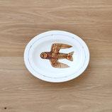 フクロウ楕円皿(小)