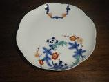 染錦パンダ文 22cm花型皿