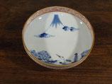 富士と鶴亀 15.5cm小鉢