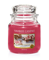 Frosty Gingerbread, Yankee Candle mittleres Glas (411g)