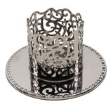 Kerzenhalter silberfarben, verspielt, 50mm