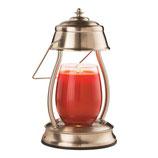 HURRICANE Laterne Vintage Brass für Kerzengläser, Candle Warmer