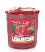 Pink Hibiscus Votivkerze