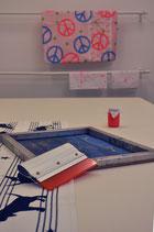 Siebdrucktisch / ein Werktag 140x280cm