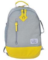 Rucksack im Stoff Design mit Leder