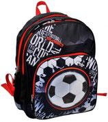 Kinder-Rucksack  Fußball  in den Farben Schwarz/Rot