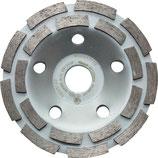 Diamantschleiftopf 125 mm für Beton und Granit zweireihig PROMAT
