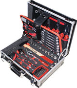 Werkzeugsortiment 105-teilig im Aluminiumrahmen Koffer NOW