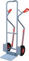 Stapelkarre mit Kufen Höhe 1300 mm Schaufel-L250xB320mm Bereifung wahlweise Tragfähigkeit 300kg PROMAT