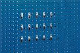 Werkzeughaltesortiment 15-tlg. verzinkt für Lochplatten je 5 Haken T75/100/150 mm BOTT