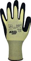Handschuhe Größe 7-10 gelb/schwarz EN 388 PSA-Kategorie II Nylon mit Naturlatex ASATEX