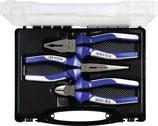 Zangensatz 3-teilig verchromt Kunststoffkoffer PROMAT
